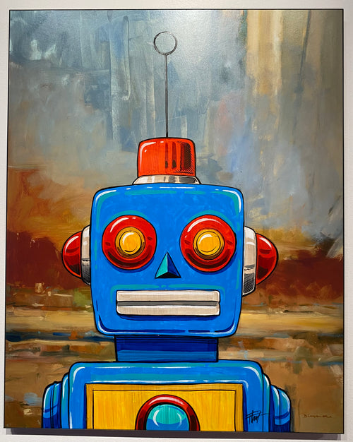 """Blue Robot"" by William 'Bubba' Flint $225"