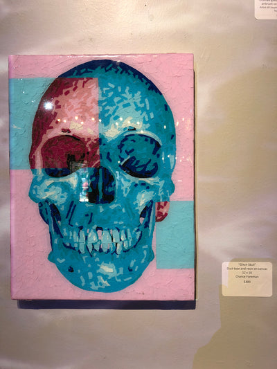 """Glitch Skull""  by Chance Foreman"