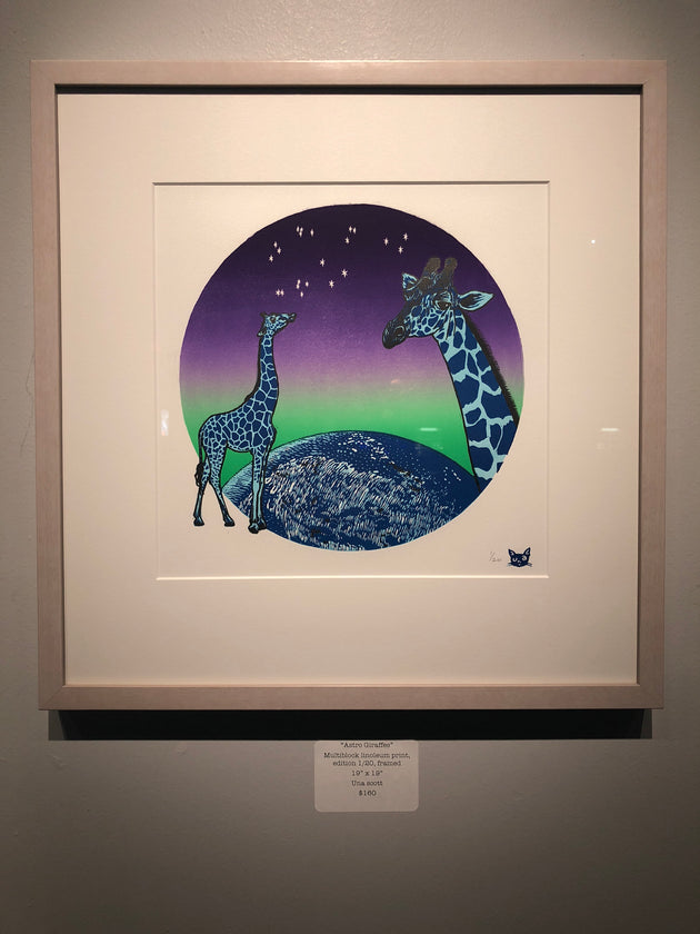 """Astro Giraffes"" by Una Scott"