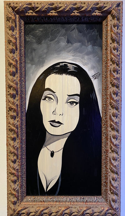 """Morticia"" by William 'Bubba' Flint $120"