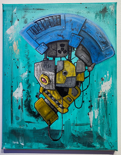 """Atomic Punk Bot"" by Chase Fleischman $125"