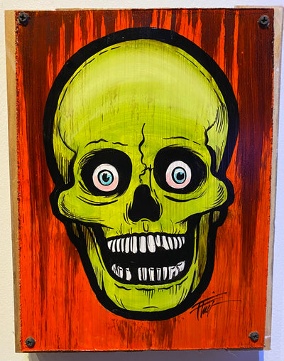"""Vintage Skull"" by William 'Bubba' Flint $65"
