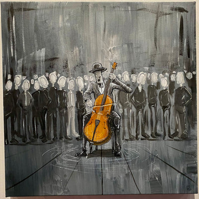 """The Cellist"" by Chase Fleischman $400"