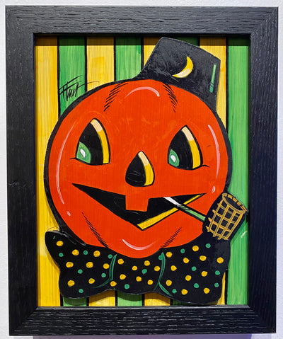 """Vintage Pumpkin"" by William 'Bubba' Flint $65"