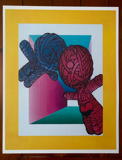 """Stuck Together"" print by D. Sains  $30"