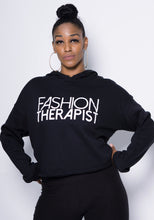 Fashion Therapist Hoodie - Black (Cropped)