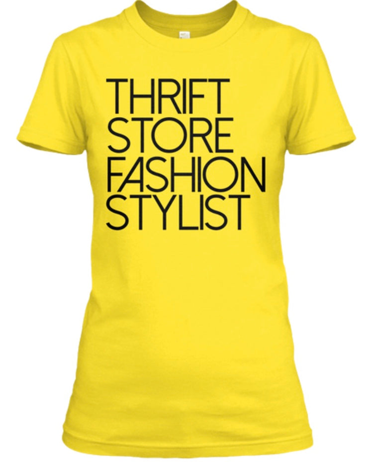 Thrift Store Fashion Stylist Tee - Gold