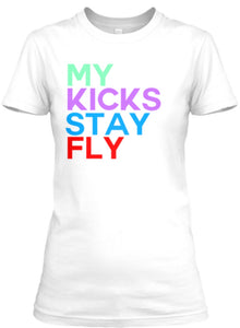 "My Kicks Stay Fly Tee - White (Jordan 1 Mid SE ""Multicolor"")"
