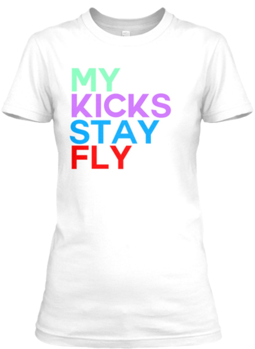 My Kicks Stay Fly Tee - White (Jordan 1 Mid SE