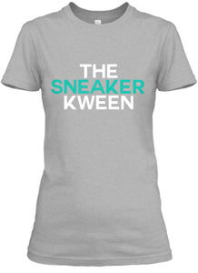 The Sneaker Kween Tee - Grey/White/Jade