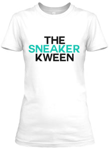The Sneaker Kween Tee - White/Black/Jade