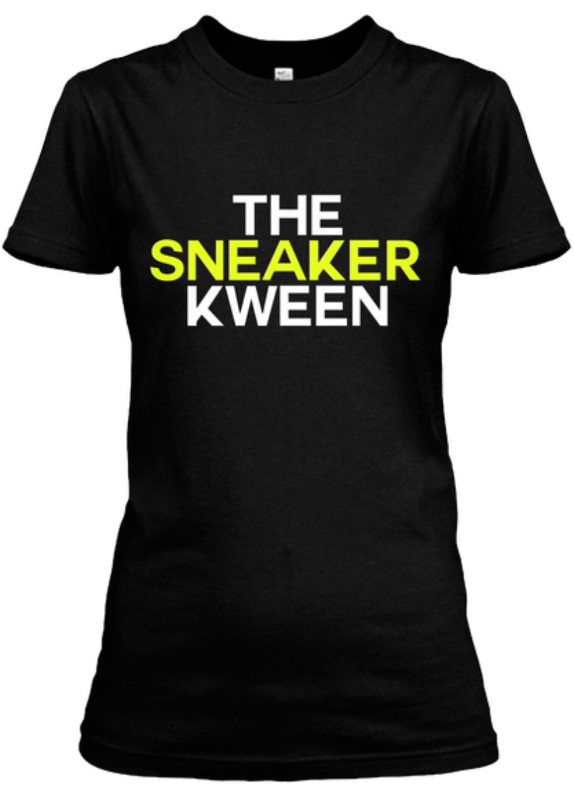 The Sneaker Kween Tee - Black/White/Neon