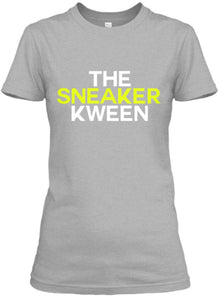 The Sneaker Kween Tee - Grey/White/Neon