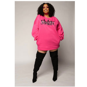SBDNC Signature Sweater Dress - Plus Size (Pink)