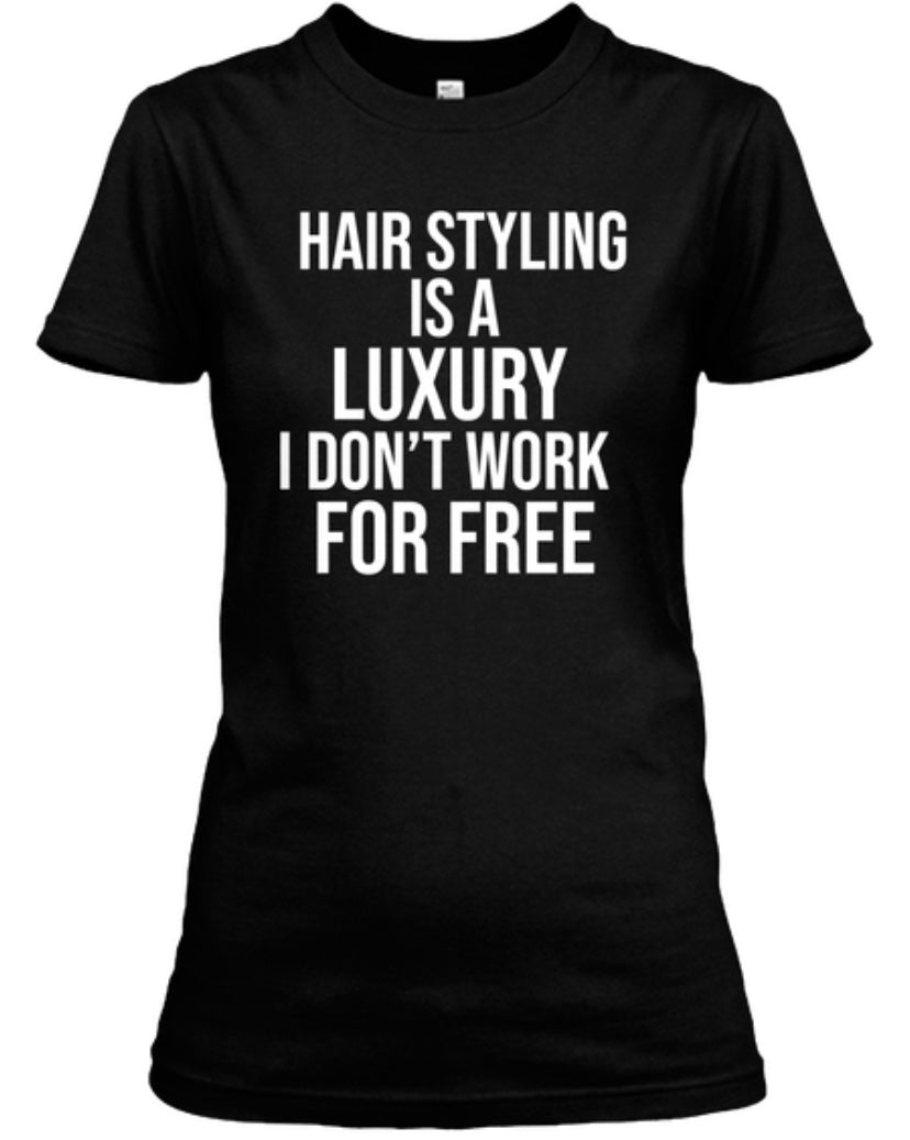 For Free Hair Styling Tee - Black
