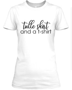 Tulle Skirt and a T-Shirt - White