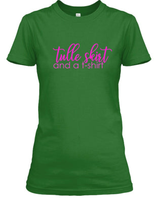 Tulle Skirt and a T-Shirt - Green