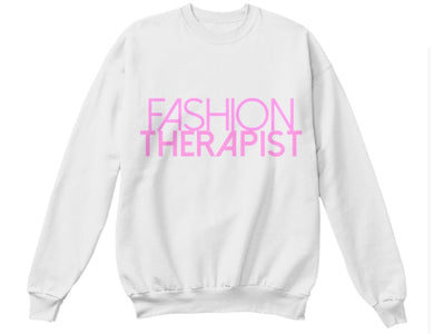 Fashion Therapist Sweatshirt - White/Pink