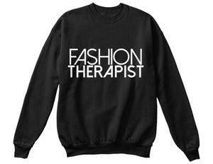 Fashion Therapist Sweatshirt - Black