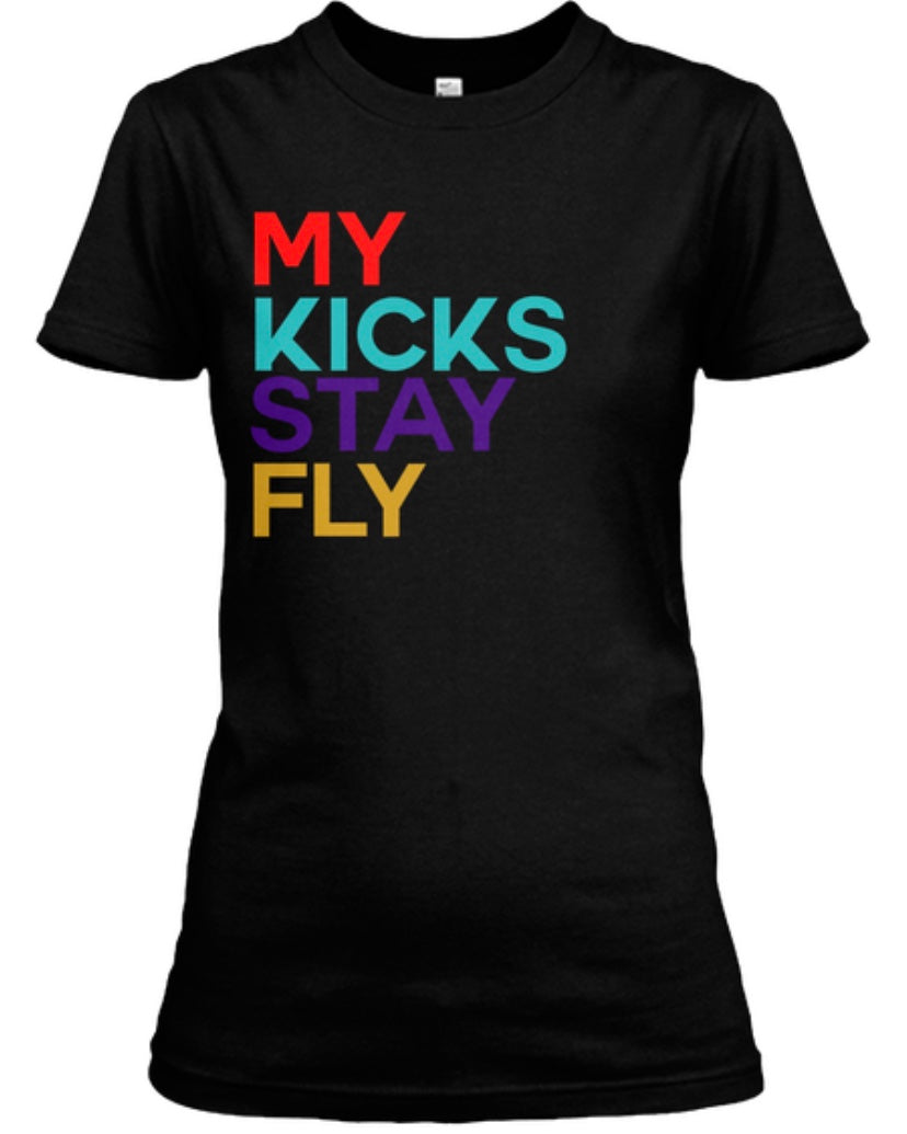 My Kicks Stay Fly Tee - Black (Limited Edition Retro 9)