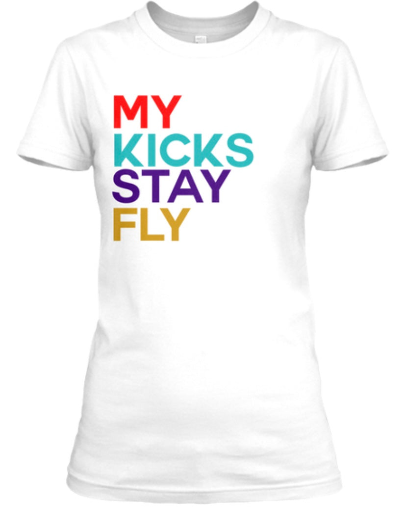 My Kicks Stay Fly Tee - White (Limited Edition Retro 9)