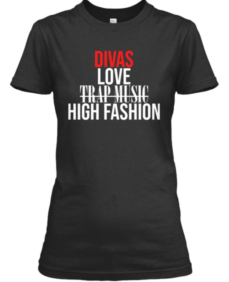 Divas Love High Fashion Tee - Black