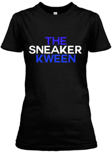 The Sneaker Kween Tee - Black/Blue/White