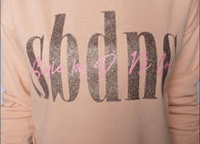 SBDNC Signature Cropped Hoodie - Blush