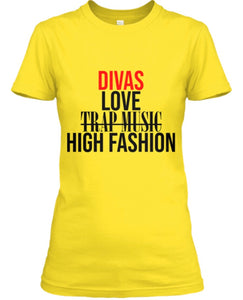 Divas Love High Fashion Tee - Gold