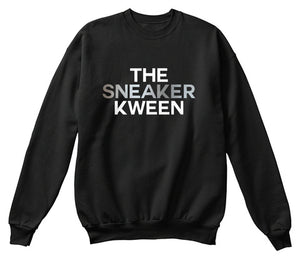The Sneaker Kween Sweatshirt - Black/Silver