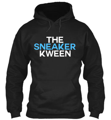 The Sneaker Kween Hoodie - Black/Carolina Blue/White