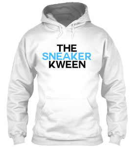 The Sneaker Kween Hoodie - White/Carolina Blue/Black