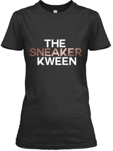 The Sneaker Kween Tee - Black/Rose Gold