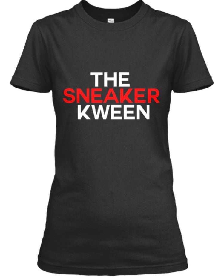 The Sneaker Kween Tee - Black/White/Red
