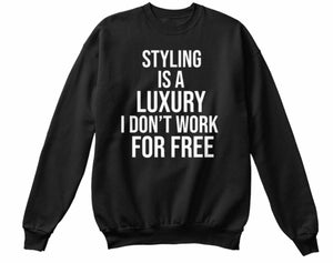 For Free Styling Sweatshirt - Black