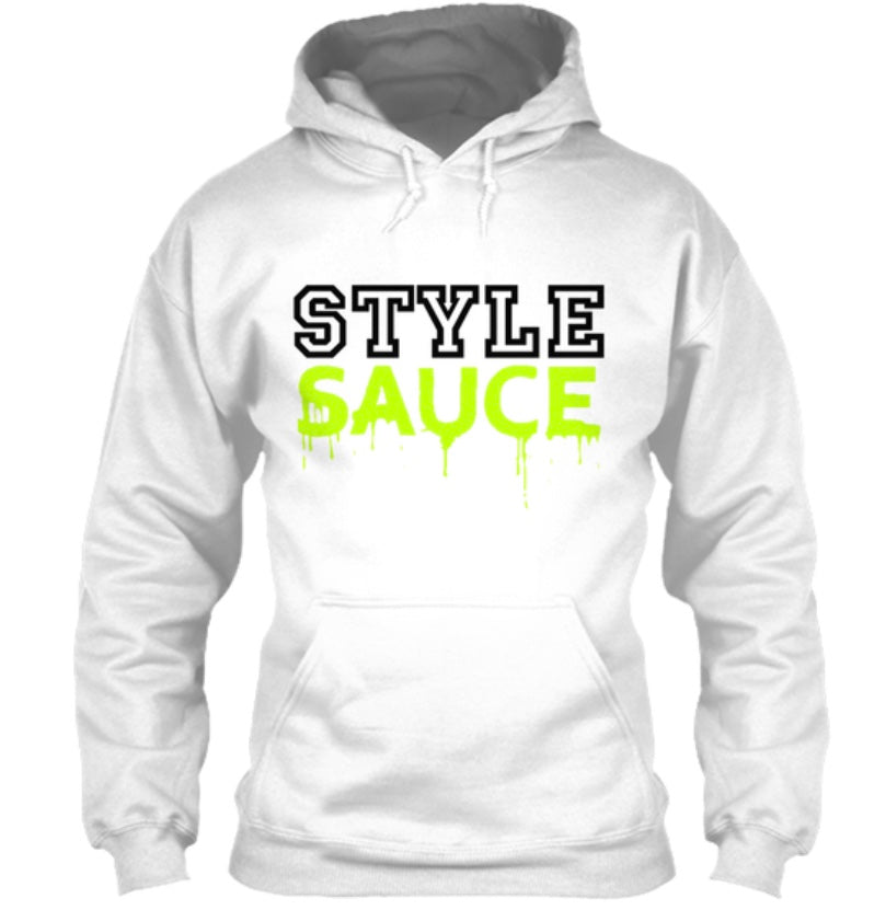 Style Sauce Hoodie - White/Black/Neon