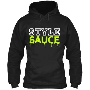 Style Sauce Hoodie - Black/White/Neon