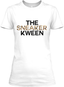 The Sneaker Kween Tee - White/Leopard