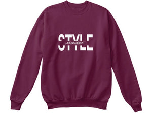 Style Savage Sweatshirt - Burgundy