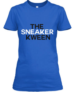 The Sneaker Kween Tee - Blue (White/Black)