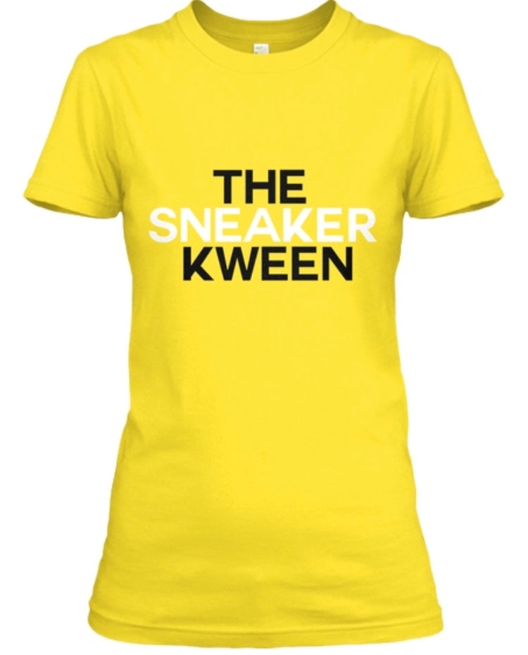 The Sneaker Kween Tee - Yellow