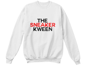 The Sneaker Kween Sweatshirt - White (Red/Black)