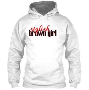 Stylish Brown Girl Hoodie