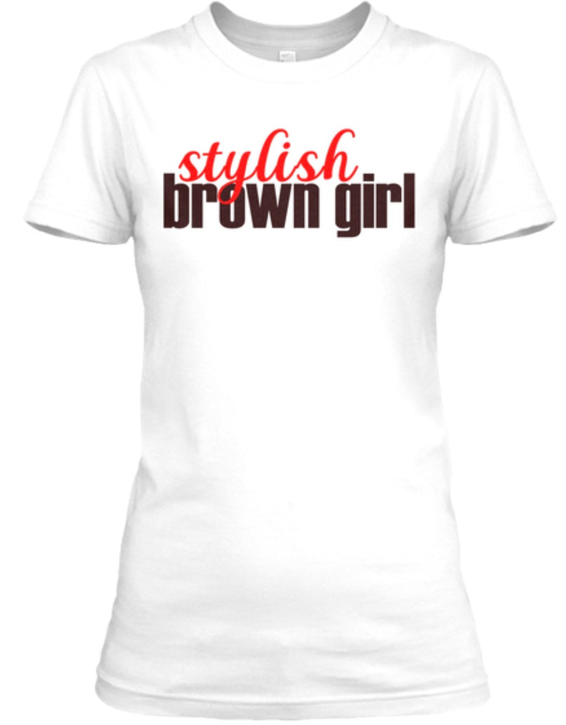 Stylish Brown Girl Tee