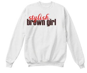 Stylish Brown Girl Sweatshirt