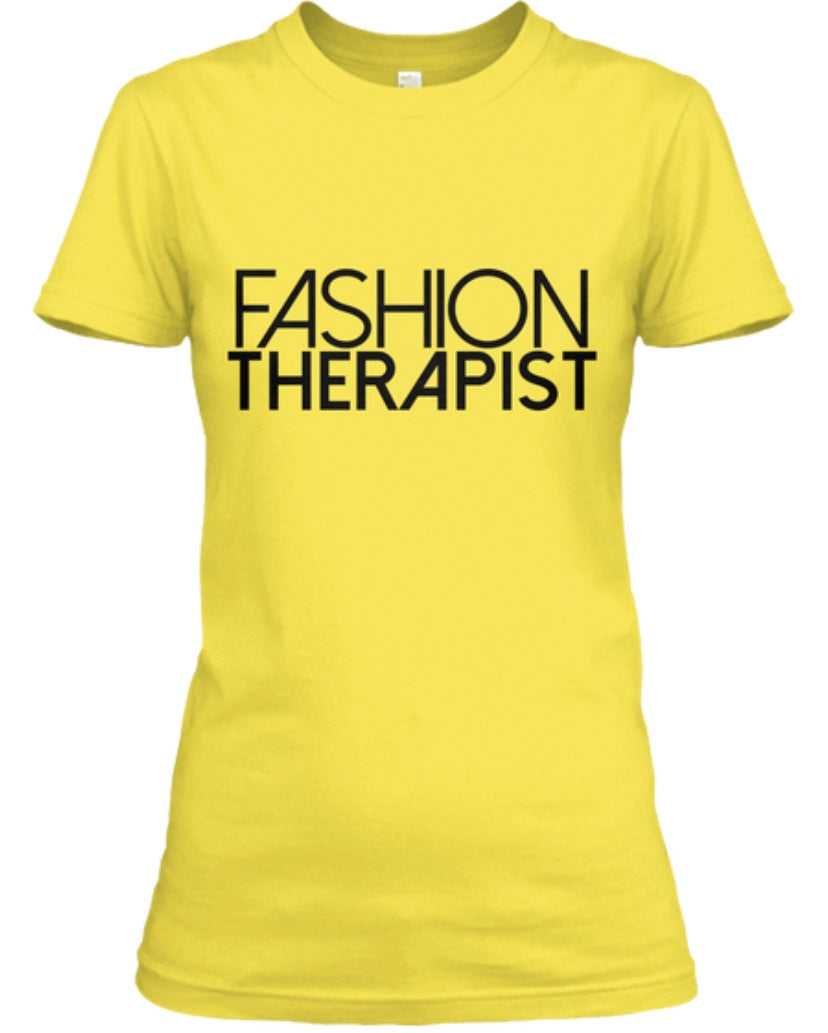 Fashion Therapist Tee - Yellow/Gold