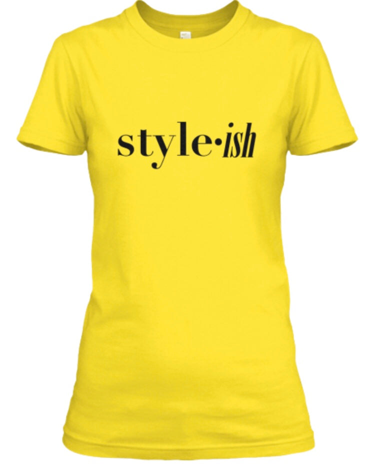 style•ish Tee - Yellow/Gold