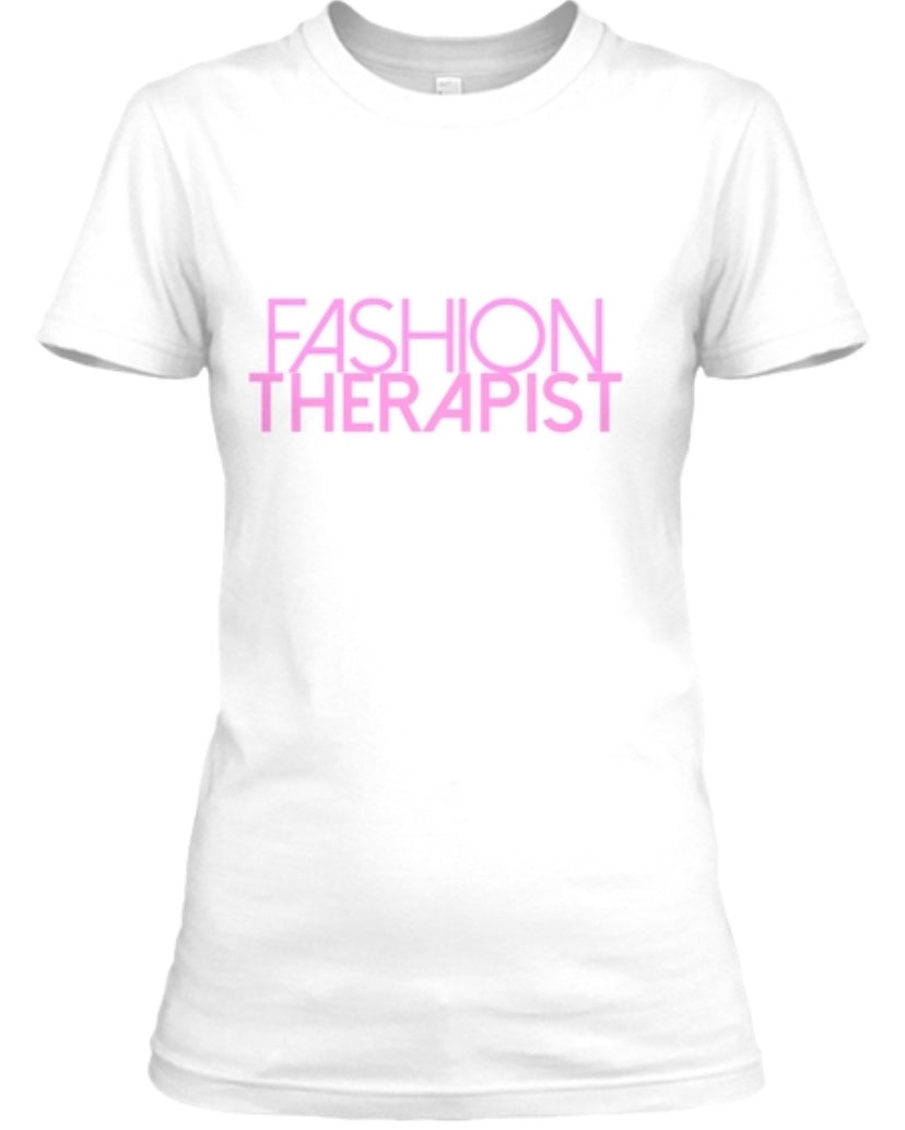 Fashion Therapist Tee - White/Pink