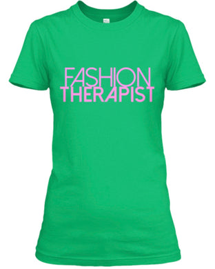 Fashion Therapist Tee - Green/Pink