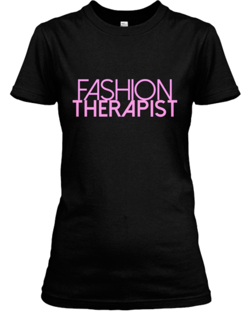 Fashion Therapist Tee - Black/Pink